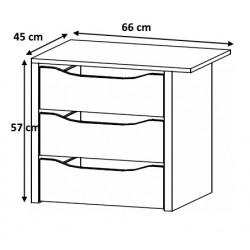 Bloc 3 tiroirs 66 cm Johana