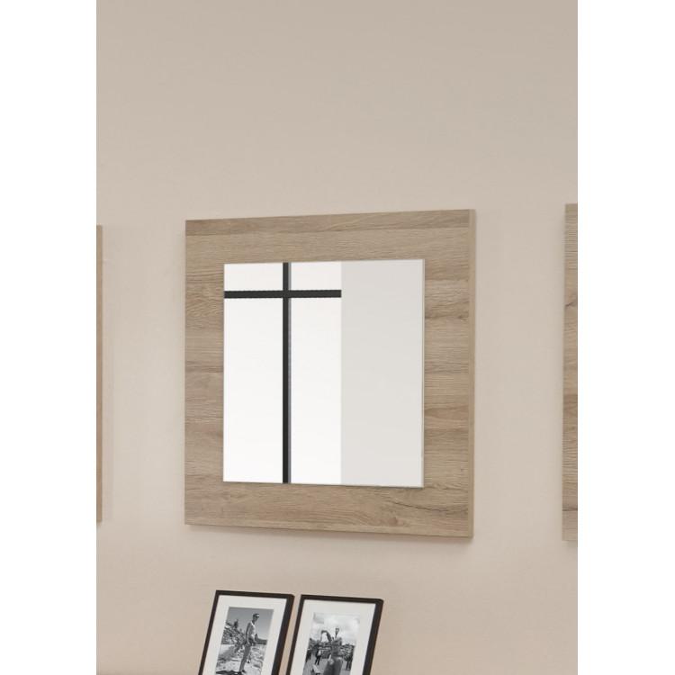 Miroir carré contemporain chêne clair Jordana