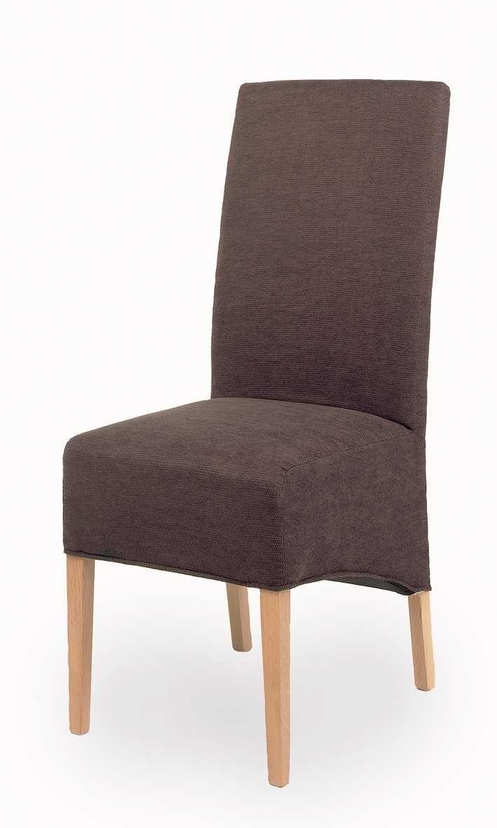 Chaises de salle à manger contemporaine en tissu brun (lot de 2) Design
