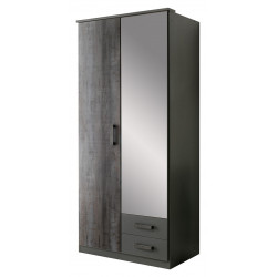 Armoire contemporaine 90 cm anthracite Heloise