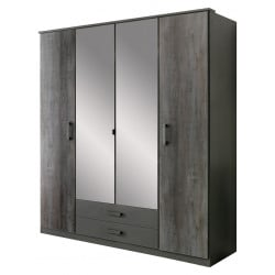 Armoire contemporaine 180 cm anthracite Heloise