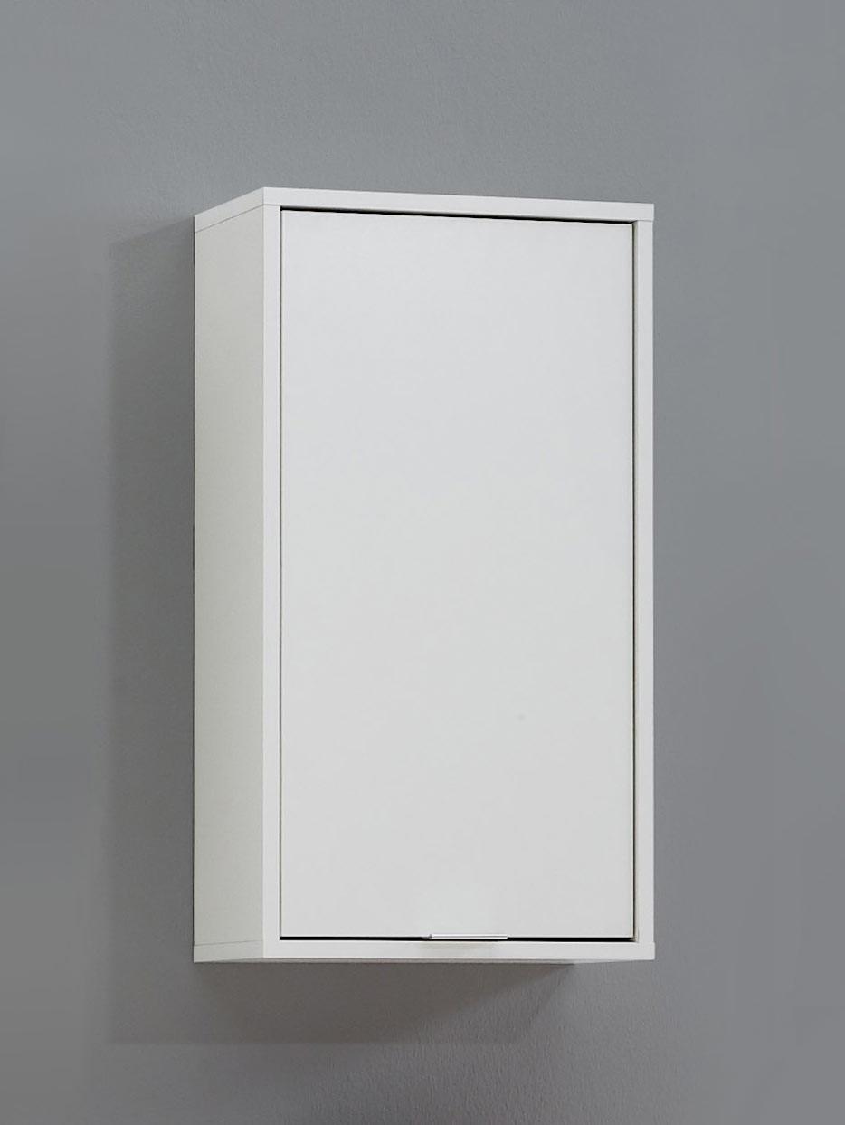 Meuble haut de salle de bain contemporain blanc Nora