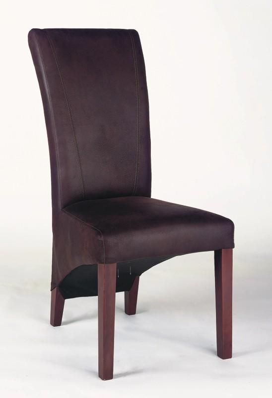 Chaises de salle à manger contemporaine en tissu brun (lot de 2) Naxos