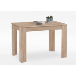 Table de cuisine contemporaine extesible chêne clair Rosa