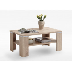 Table basse contemporaine chêne clair Bastien