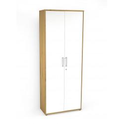 Armoire de bureau contemporaine H 202 cm chêne/blanc Texas