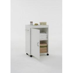 Meuble de salle de bain mobile blanc Adenia