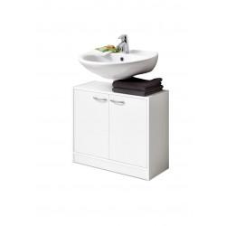 Meuble sous vasque contemporain blanc Adenia