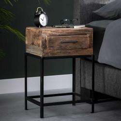 Table de chevet vintage en bois Margaux