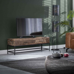 Meuble TV vintage en bois recyclé Marjorie