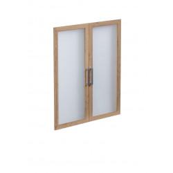 Jeu de 2 portes vitrées pour étagère 89 cm Macadamia