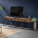 Meuble TV contemporain en bois 4 tiroirs Anaïs