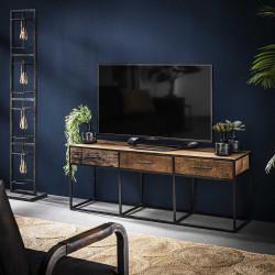 Meuble TV contemporain en bois 3 tiroirs Lucie
