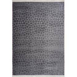Tapis contemporain avec franges lavable en machine Greensboro