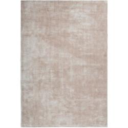 Tapis fait main effet soie uni rectangle Unique