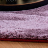 Tapis extra doux rond polyester uni Mistara