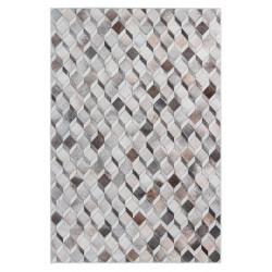 Tapis intérieur patchwork en polyester ethnique multicolore Izale