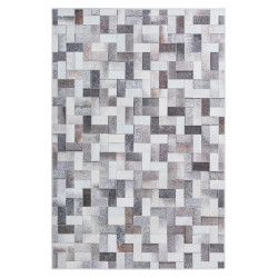 Tapis patchwork intérieur multicolore ethnique polyester Fiori