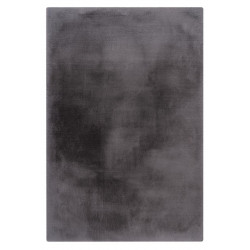 Tapis rectangle doux uni shaggy effet brillant polyester Oceania