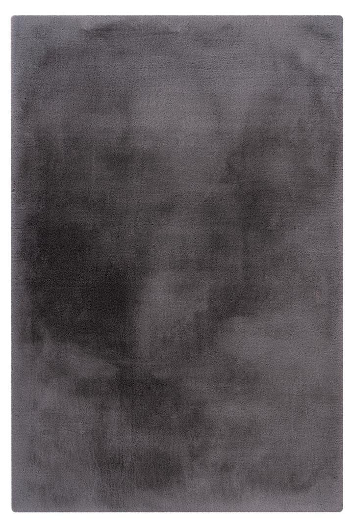 Tapis rectangle doux uni shaggy effet brillant polyester Oceania