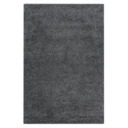 Tapis shaggy uni en polypropylène rectangle Alienor