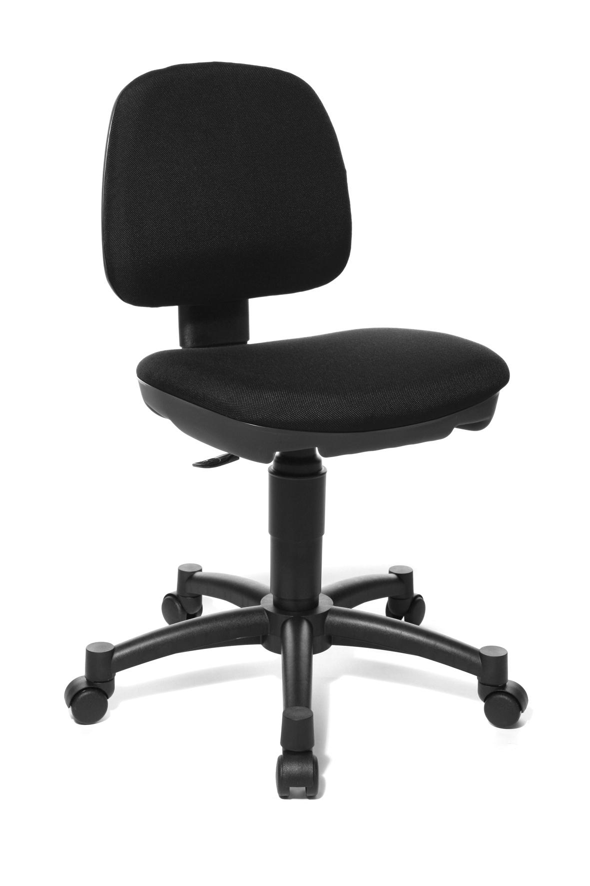 Chaise de bureau enfant contemporaine en tissu noir Moon