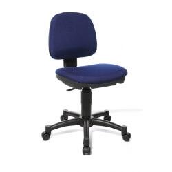 Chaise de bureau enfant contemporaine en tissu bleu Moon