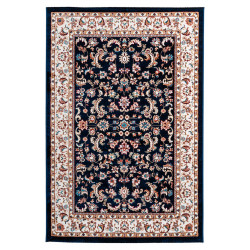Tapis polyester style oriental rectangle à courtes mèches Azilal