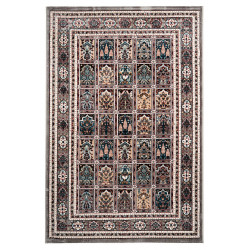 Tapis à courtes mèches style oriental rectangle Cemano