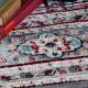 Tapis à courtes mèches style oriental rectangle Cemano