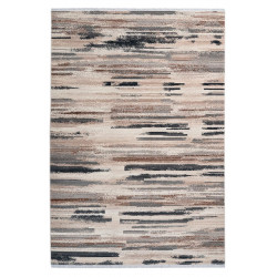 Tapis moderne rayé rectangle taupe intérieur Turku