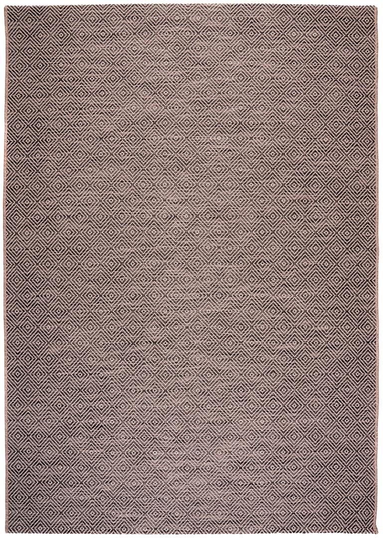 Tapis intérieur et extérieur plat scandinave graphique gris Lynn