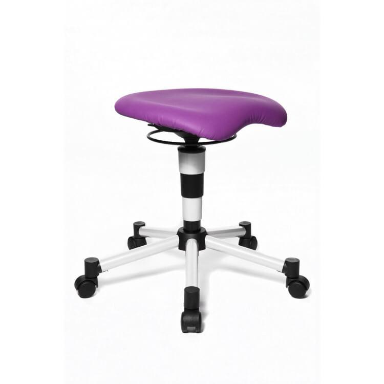 Tabouret de bureau design en tissu violet Body