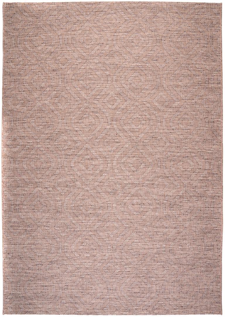 Tapis taupe intérieur et extérieur rectangle plat Jacob