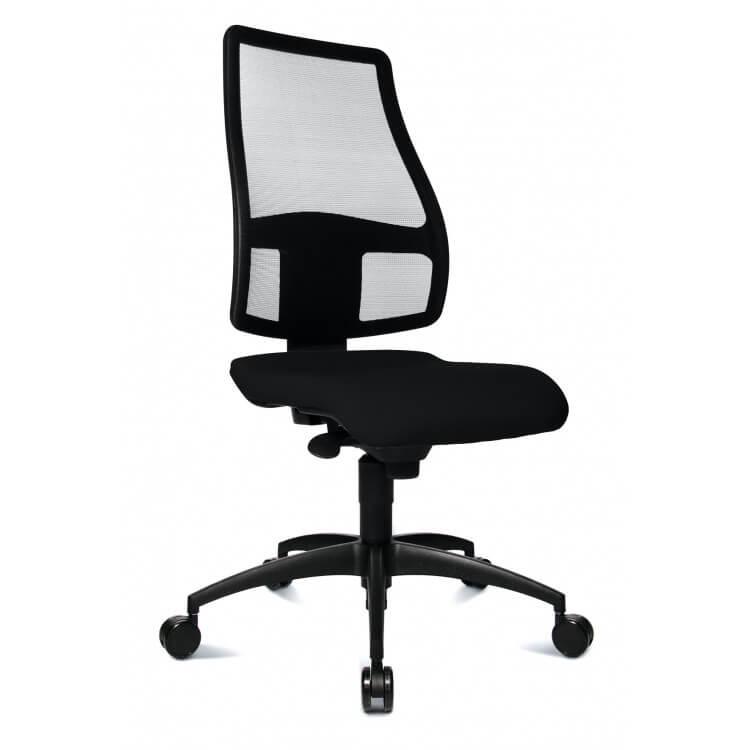 Chaise de bureau design en tissu noir Yumi