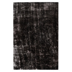 Tapis effet brillant shaggy uni polyester rectangle Timothee