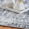 Tapis rayé moderne à courtes mèches rectangle Impiano