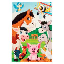 Tapis multicolore pour enfant rectangle Elliot