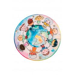 Tapis de chambre enfant rond multicolore One