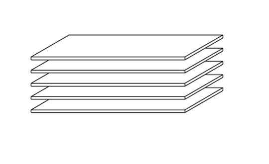 Etagères 88 cm (lot de 5) Aubade