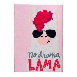 Tapis rectangle pour chambre d'enfant multicolore Lama