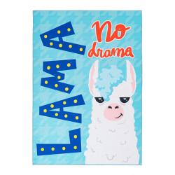 Tapis de chambre enfant rectangle multicolore Lama