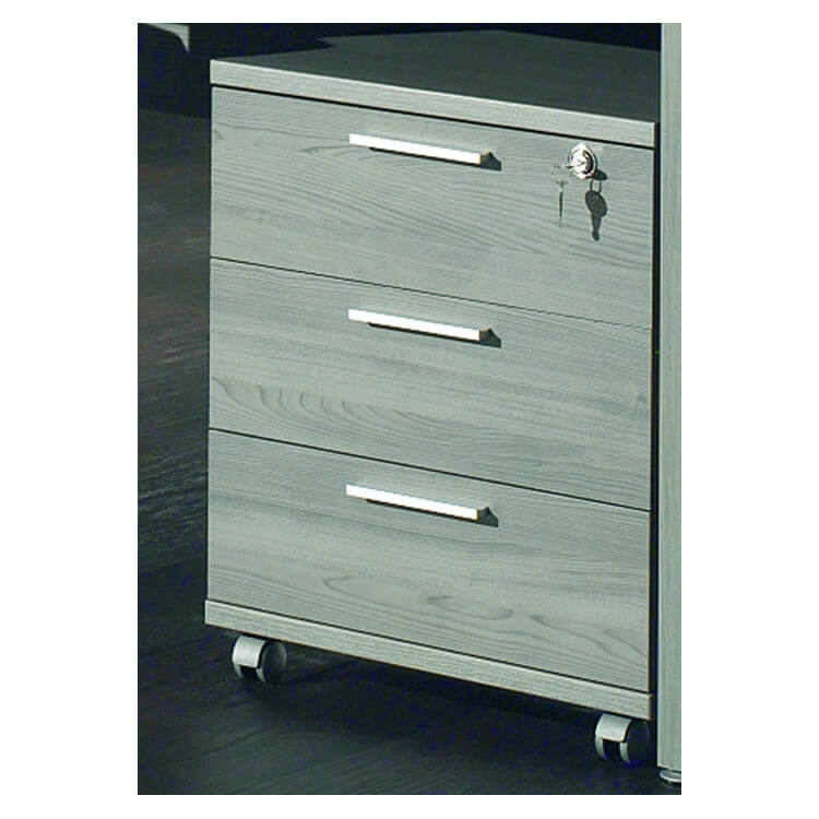 caisson de bureau roulettes 3 tiroirs coloris bouleau gris alrun matelpro. Black Bedroom Furniture Sets. Home Design Ideas