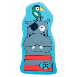 Tapis enfant lavable en machine multicolore Hippo