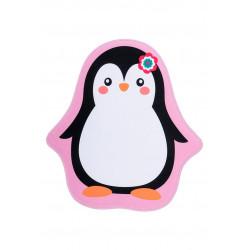 Tapis multicolore antidérapant lavable en machine fille Penguin