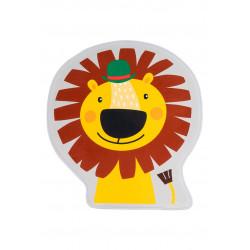Tapis enfant antidérapant multicolore lavable en machine Lion