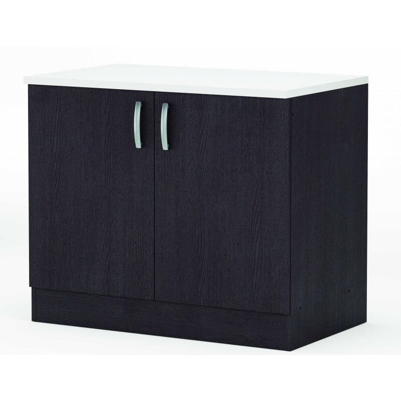meuble bas 100 cm onyx. Black Bedroom Furniture Sets. Home Design Ideas