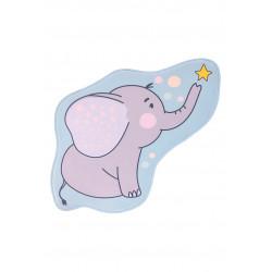 Tapis enfant multicolore lavable en machine antidérapant Elephant