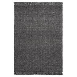 Tapis naturel en laine et viscose rectangle tissé main Tanguro