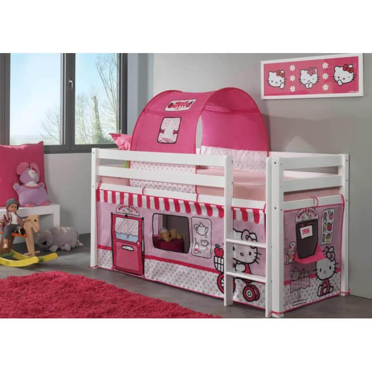 lit sur lev enfant hello kitty. Black Bedroom Furniture Sets. Home Design Ideas